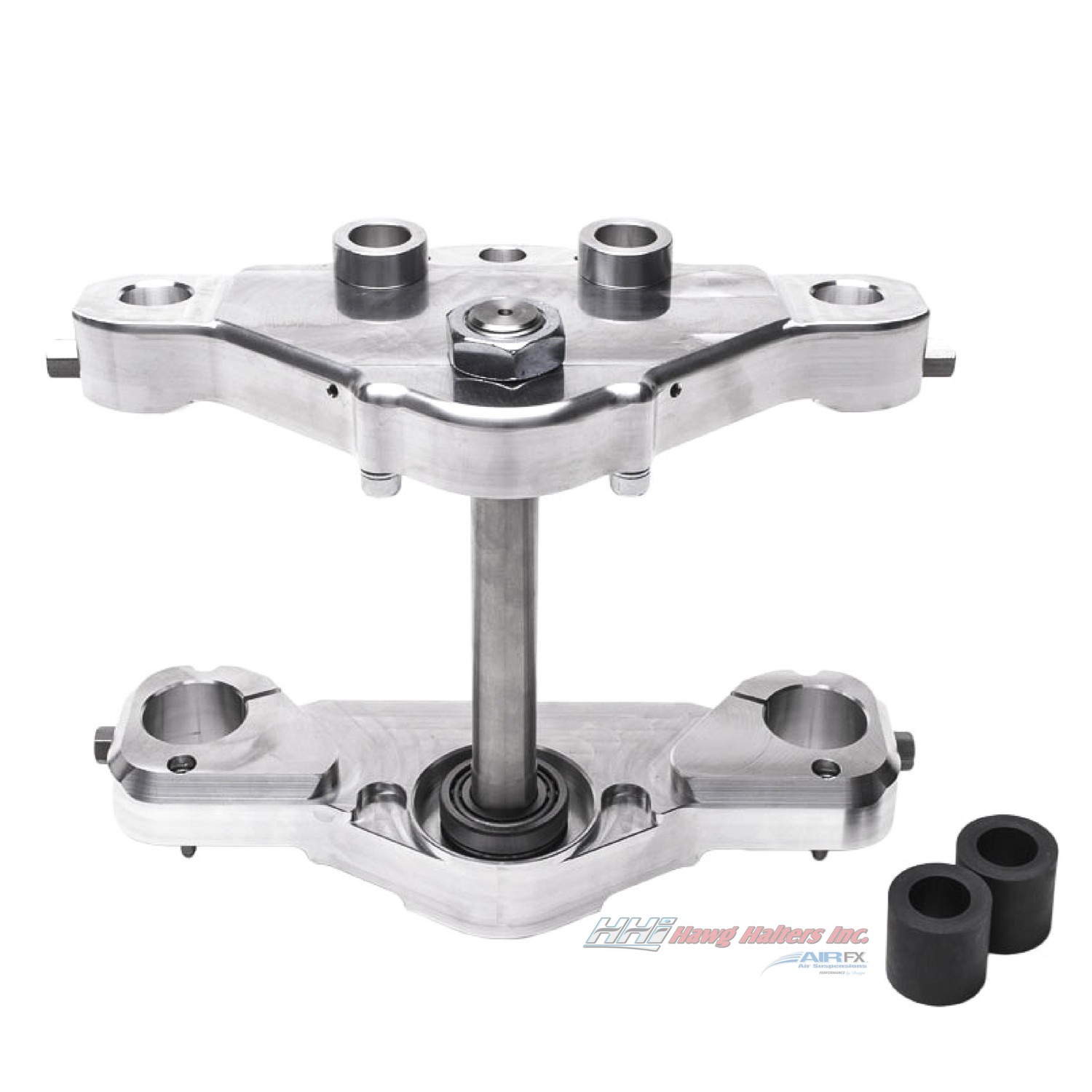 Bolt-On triple tree kit for a 23 inch wheel. Black anodized. Fits 2000-2013 FL touring