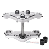 Bolt-On triple tree kit for a 23 inch wheel. Machine finish. Fits 2000-2013 FL touring