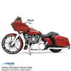 49mm Front Cartridge Pair. Stock neck with raked triple trees. Fits 2014-2018 Harley FL/Touring with 23 inch front wheel