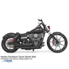 Bullet shock pair with chrome finish, 2005-2017 Dyna