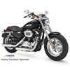 Bullet shock pair with powder coated black finish, 2005-2018 Sportster