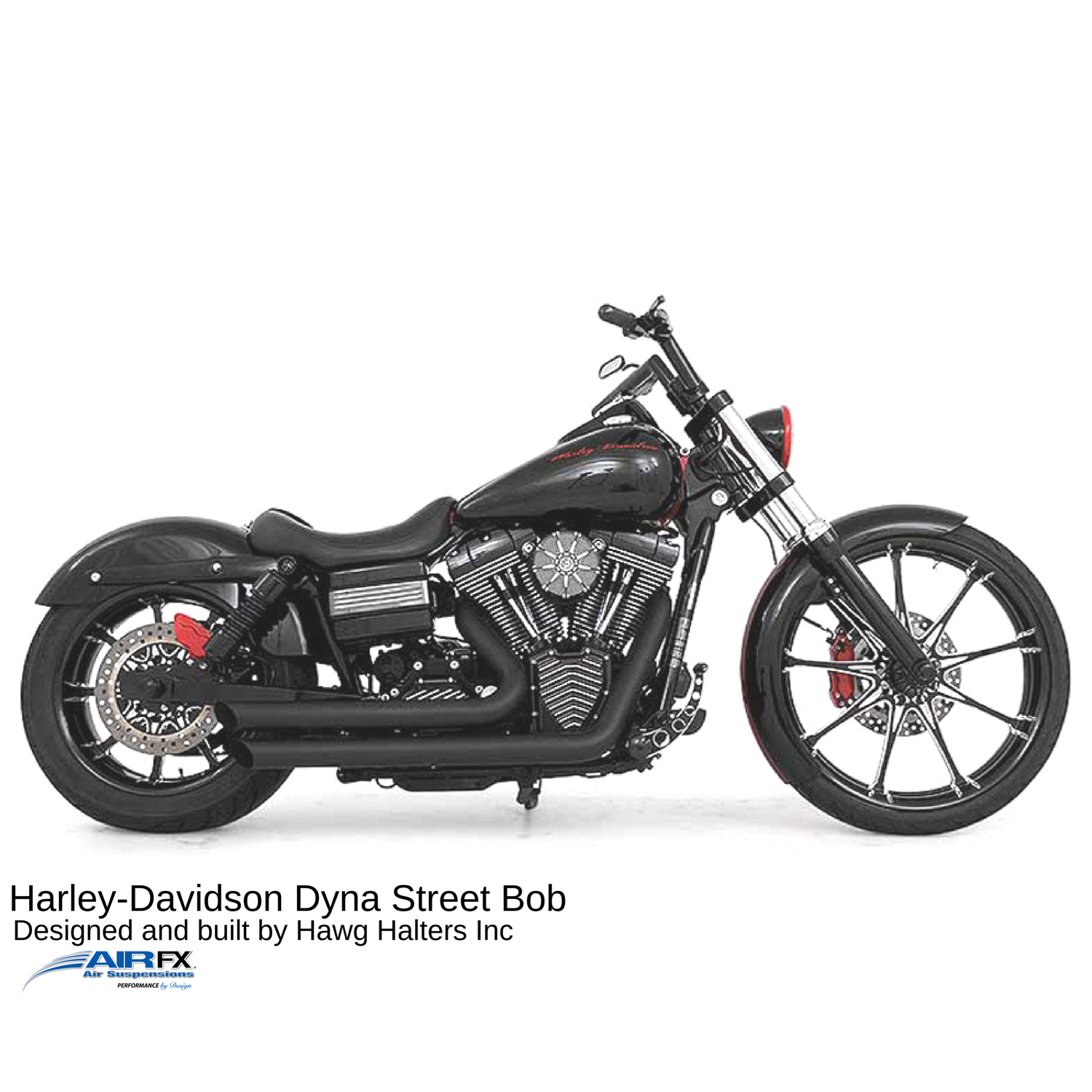 Bullet shock pair with powder coated black. 2005-2017 Dyna
