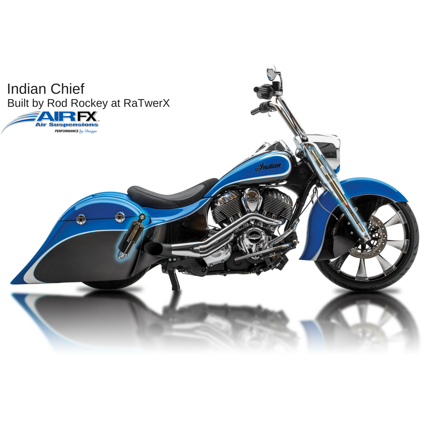 Front cartridge pair 2014-2018 Indian Chief/Chieftain with 18-26 inch front wheel