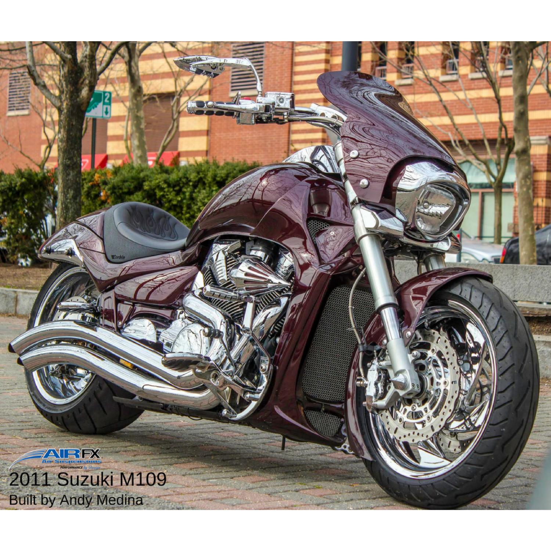 Rear mono-shock with hard coat anodized black finish for models 2006 - 2018