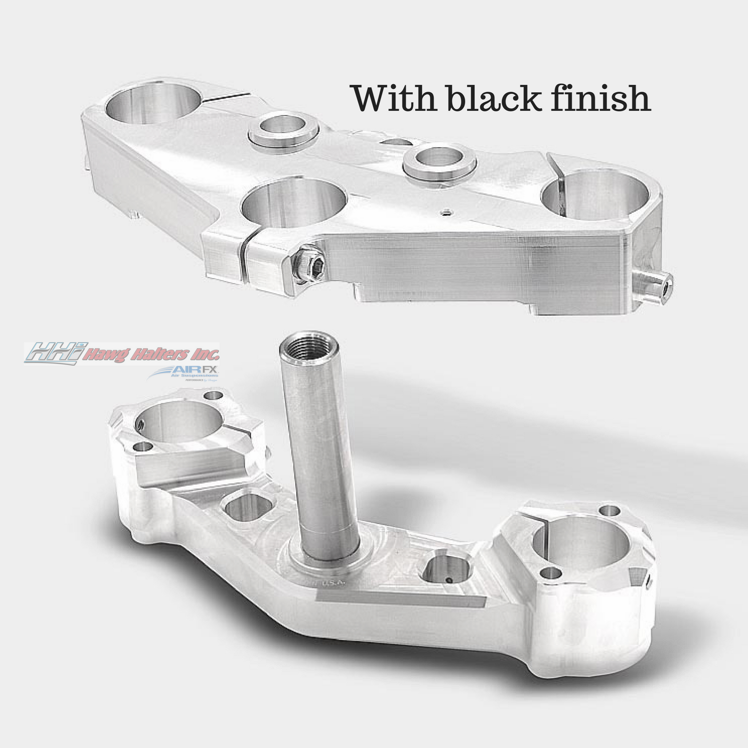 Bolt-On triple tree kit for a 23 '' wheel. Black anodized. Fits 2014-2018 FL touring (49FLAX23) [+$829.00]