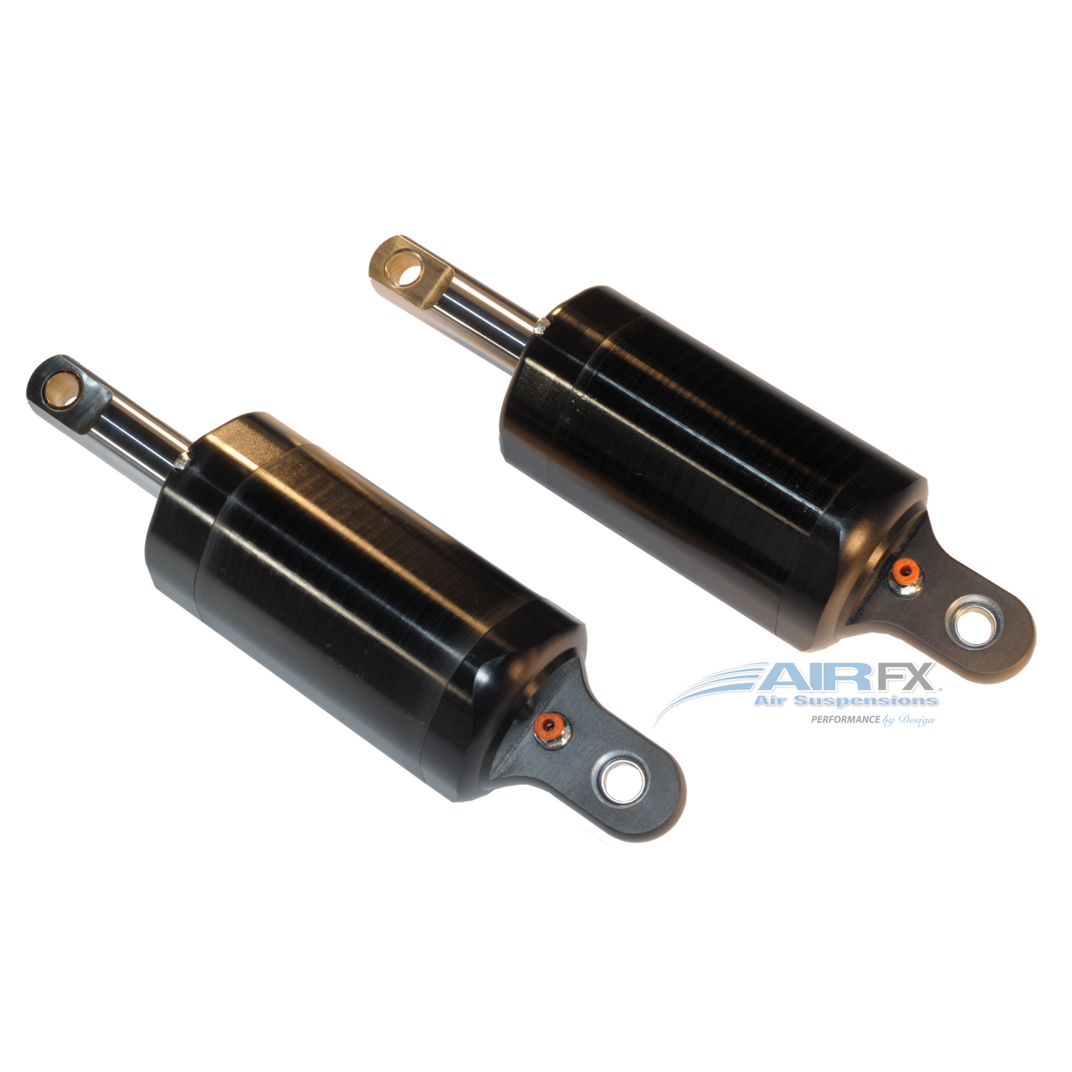 Rear magnum shock pair with black hardcoat anodized finish, 10-13 inch pin to pin travel. Fits 2000-2018 Harley FL/Touring, stock stroke - FXA-2009-B [+$900.00]